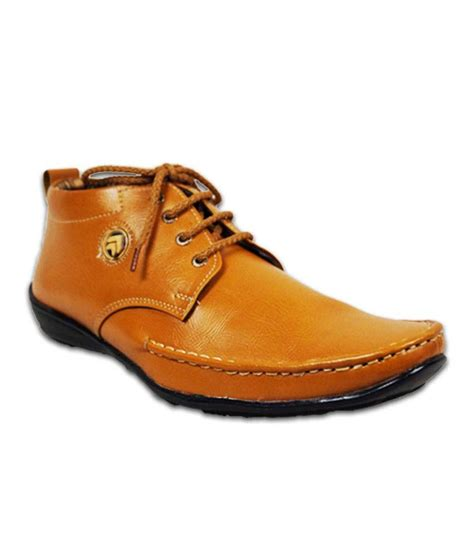 austrich brown leather casual shoes price in india buy