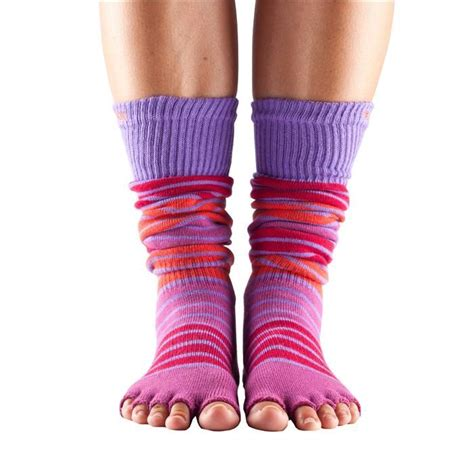 Toe Half Socks toesox half toe knee high grip socks sweatband