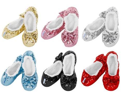 snoozies sequin slippers snoozies ballerina bling sequin sherpa fleece cosy foot