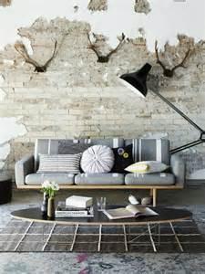 gray living room ideas brick