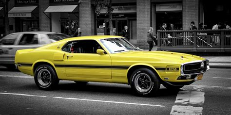 ford mustang gt classic muscle car yellow hd wallpaper