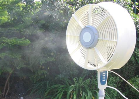 Patio Fans With Misters by Outdoor Misting Fan Cool U 6710
