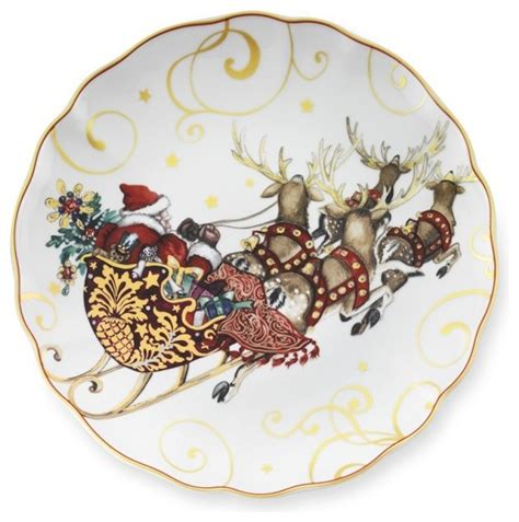 t was the night before christmas dinner plates