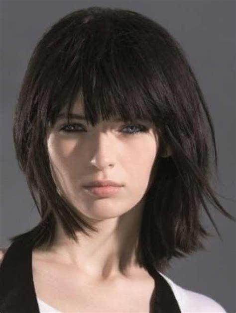 textured bob hairstyle photos 15 medium layered bob with bangs bob hairstyles 2017