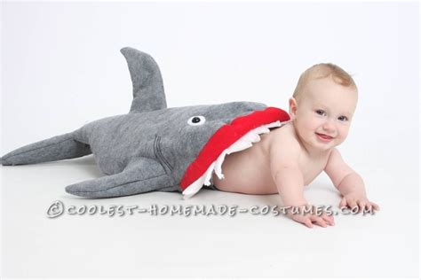baby shark band coolest baby shark attack costume using baby carrier