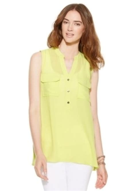 Alfani Blouse by Alfani Alfani Sleeveless Flap Pocket Blouse Casual
