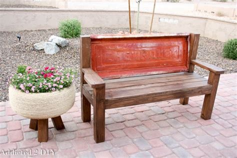 how to make a tailgate bench rustic tailgate bench tutorial addicted 2 diy