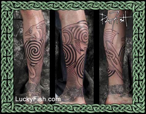 celtic tattoo portfolio luckyfish inc and tattoo santa