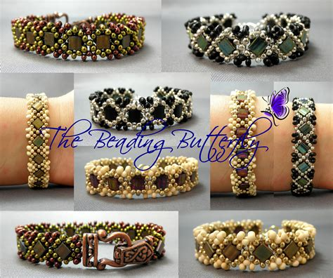 the beading butterfly claddagh reversible tila peanut bracelet the beading
