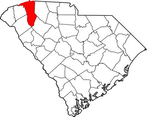 Greenville County Search File Map Of South Carolina Highlighting Greenville County