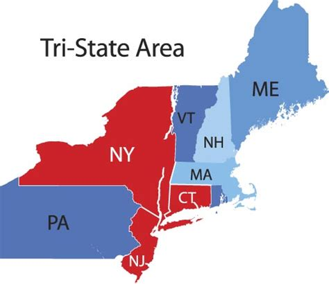 Map Connecticut New York by Tri State Real Estate Jobs Real Estate Job Site