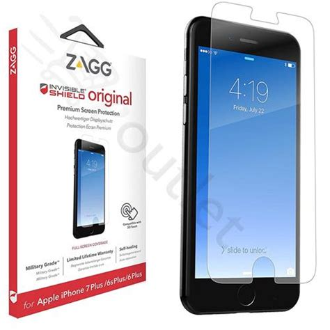 zagg invisible shield original screen protector for iphone 7 plus 6s plus eoutlet co uk