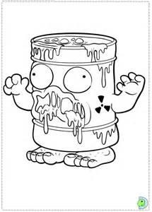 trash pack coloring az coloring pages