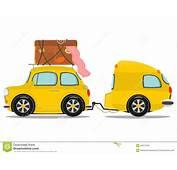 Auto Und Wohnwagen Vektor Abbildung Bild Von Entspannung