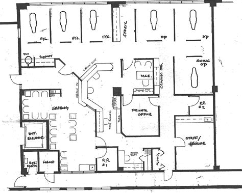 floor plan of an office very private exit for patients after treatment new