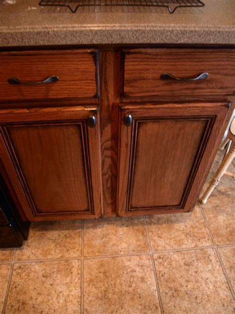 how to stain oak cabinets darker without sanding how to paint and antique kitchen cabinets my way