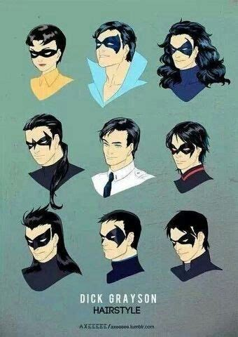 nightwing hairstyle robin evolution batman pinterest robins and evolution