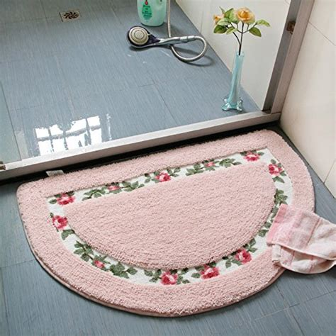 Pretty Bathroom Rugs Sytian 174 Decorative Beautiful Floral Rural Style Flower Design Shaggy Area Rug Doormat Floor