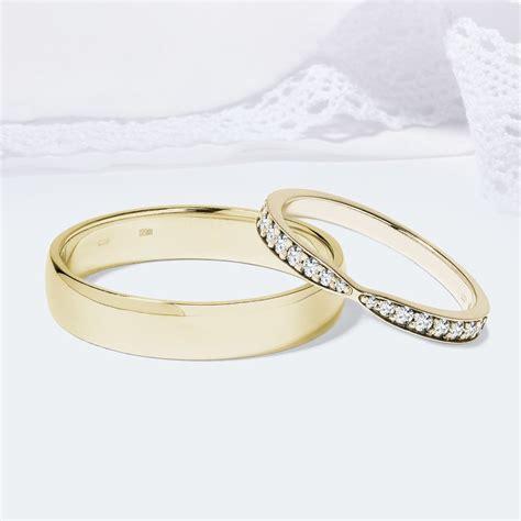 Eheringe Gold Mit 3 Diamanten by Klenota Eheringe Aus Gold Mit Diamanten Trauringe