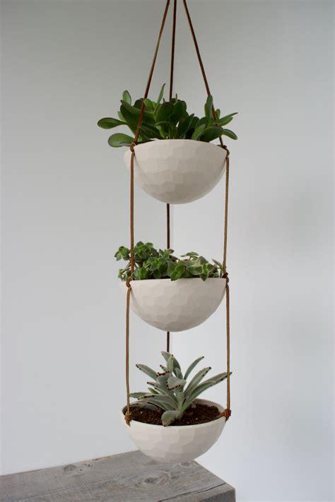 3 Tier Hanging Succulent Planter Geometric Faceted Or Hanging Succulent Planter