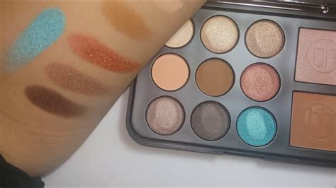 Review Pixy Eyeshadow Bronze Delight bh cosmetics bronze paradise detailed finger brush swatches review