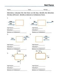 Balanced And Unbalanced Forces Worksheet Answers by Balanced And Unbalanced Forces Foldable Worksheet For