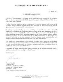 Restaurant Reference Letter by Reference Letter Blue Bay 11 01 2012
