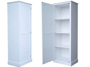 solid wood cupboard 180cm white painted linen