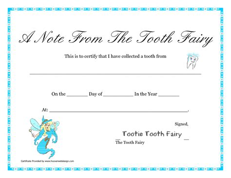 free printable tooth certificate template 7 best images of tooth certificate printable tooth