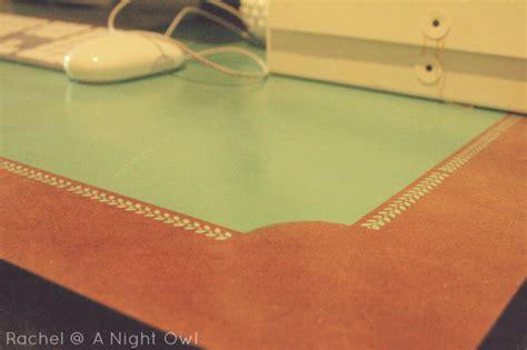 martha stewart desk blotter thrifty thursday an ikea desk makeover a owl