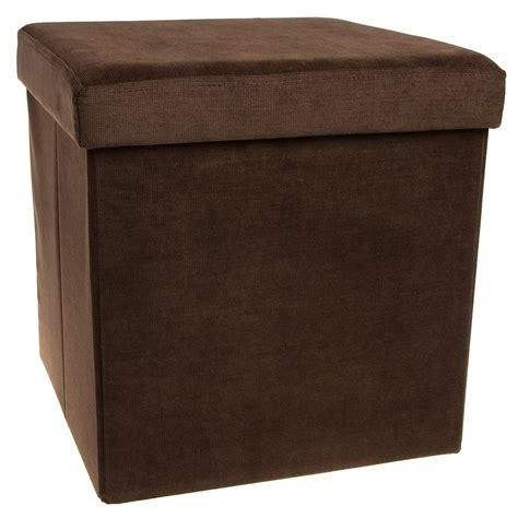 Storage Ottoman Cube Folding Fabric Square Foot Rest Folding Ottoman