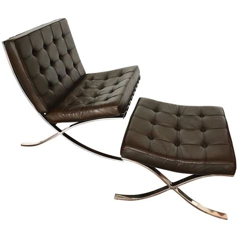 barcelona chair ottoman mocha brown leather barcelona chair and ottoman by ludwig