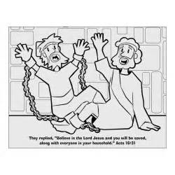 Peter escapes from prison free colouring pages