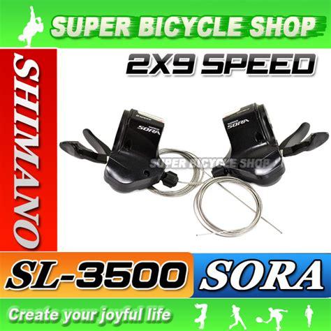 New Shifter Shimano Sora 3400 2x9 Speed shimano sora sl 3500 2 x 9 speed shift lever r l set ebay
