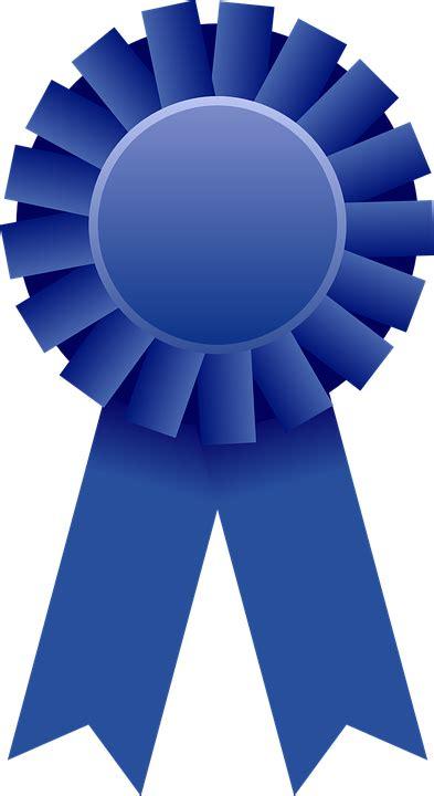 blue awards free vector graphic award ribbon rosette blue free