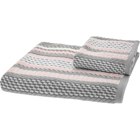 grey and white bath towels quot caro home quot pink grey white striped towels tk maxx bathroom d pink and