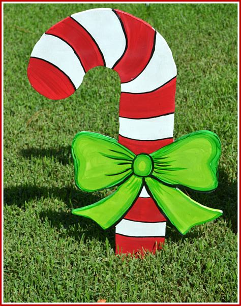 outdoor candycane ribbon decoration yard outdoor