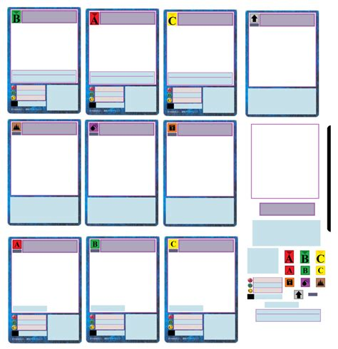 create templates for cards custom digimon card set by artman101 on deviantart