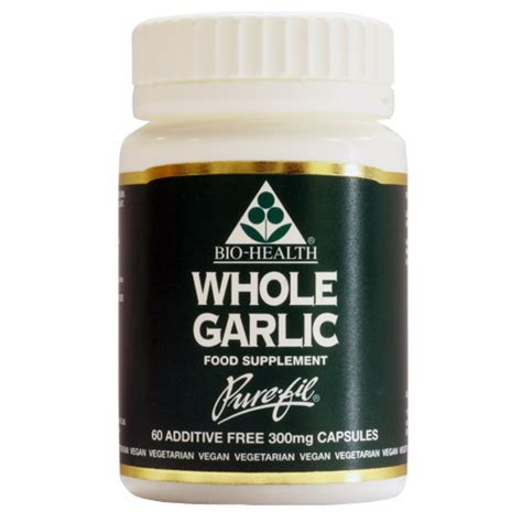 Garlic Kapsul Isi 60 bio health garlic whole powdered clove 60 x 300mg capsules uk supplier