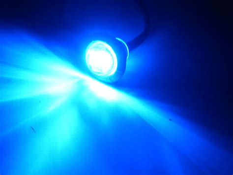 Maxxima 3 4 Quot Mini Aux Blue Led Light Aux Use Only Ebay Blue Led Lights