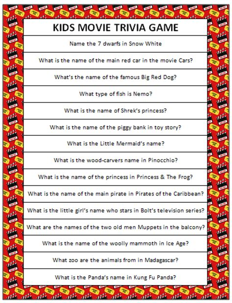 film quotes pub quiz kids movie trivia free printable moms munchkins
