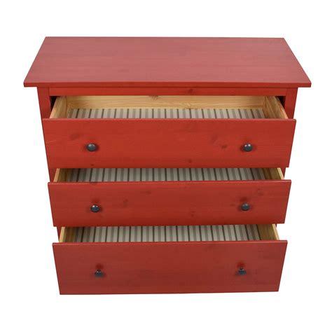ikea hemnes dresser 3 drawer 50 off ikea ikea red hemnes 3 drawer dresser storage
