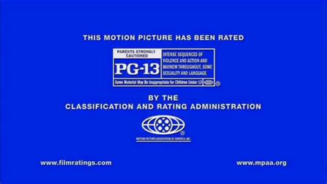 Or Pg 13 Pg 13 Mpaa Rating Ids Logo 2013 Comcast Croporation Bumpers
