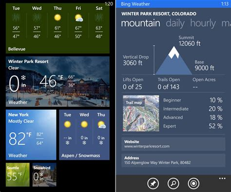 bing weather app windows phone fone arena idiea