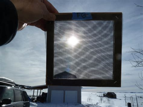 Aluminum Screen Solar Furnace - window screen as a solar collector absorber