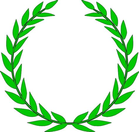 bayleaf kranz olive wreath clip free vector in open office drawing
