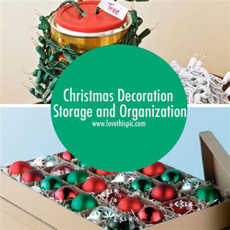 christmas decoration storage and organization