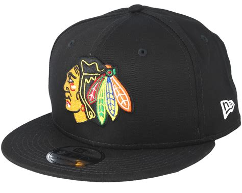 blackhawks snapback new era chicago blackhawks basic black snapback new era caps