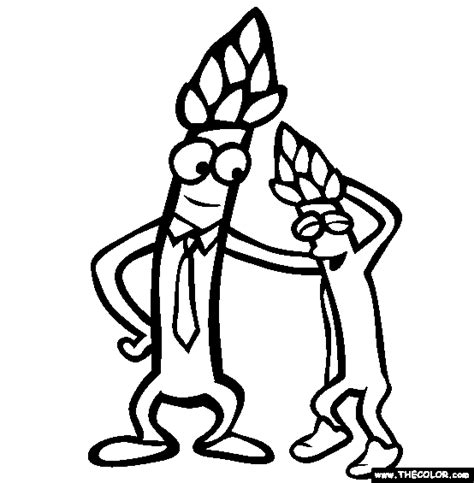 asparagus coloring page vegetables online coloring pages page 1