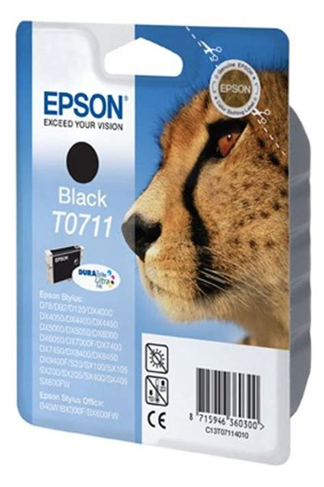 Catridge Epson Original Wadah Tintat07641 Black epson original genuine t0711 t 0711 to711 0711 black printer ink cartridge ebay